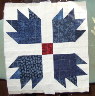 Bear Paw quilted square