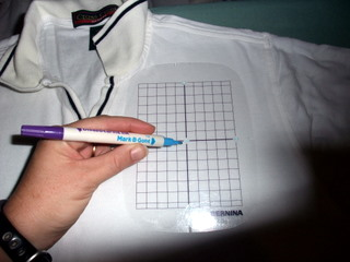 How to prepare a polo to be machine embroidered sewing for Embroidery placement on t shirts
