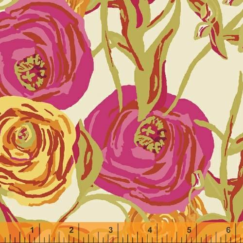 cream graphic roses, from Barijonline.com/Wyndham Fabrics
