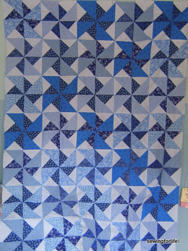 The 16 Patch Double Pinwheel Project – Auditioning an Inner Border ... : double pinwheel quilt pattern - Adamdwight.com
