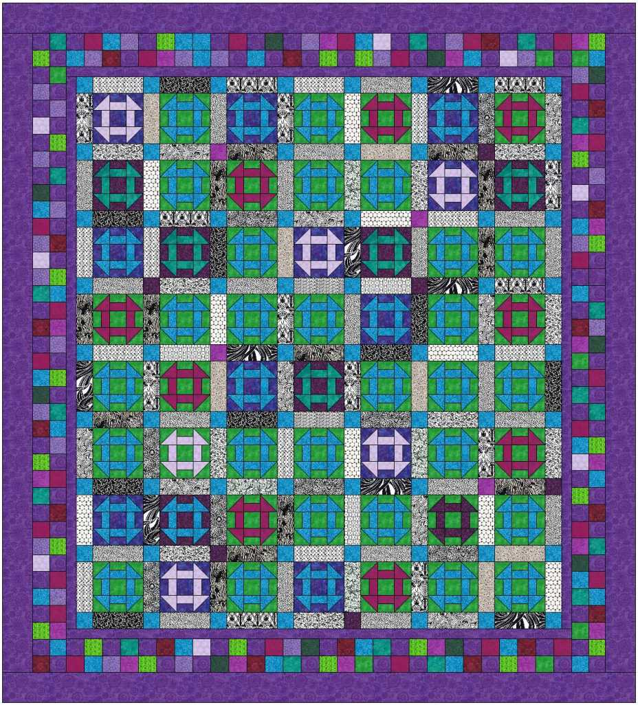 churn dash purple border