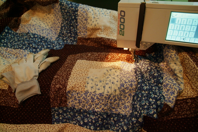 Quilting 'Snow In October'