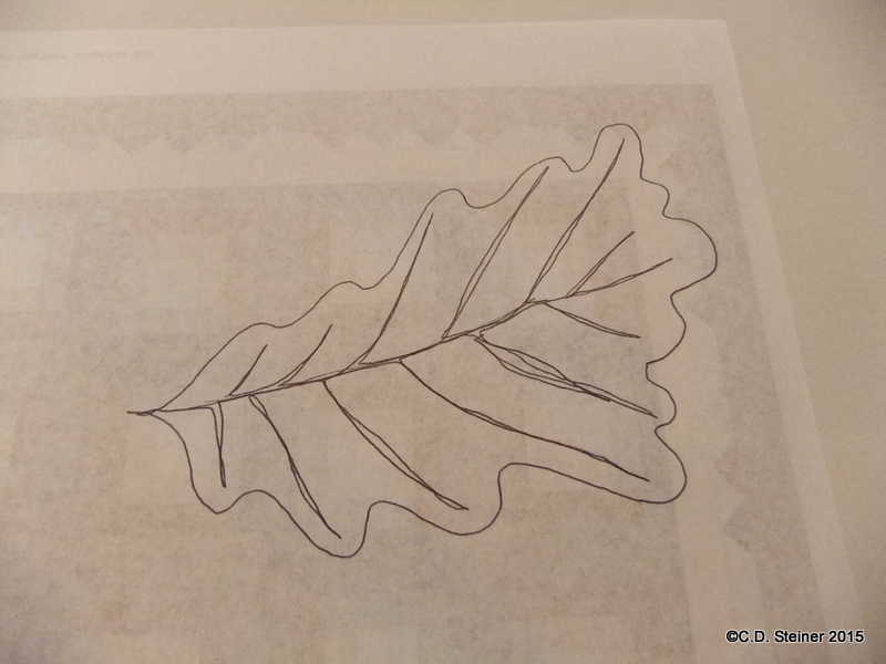 """Free Motion Quilting """"Snow In October"""" Video 3 – OakLeaves!"""
