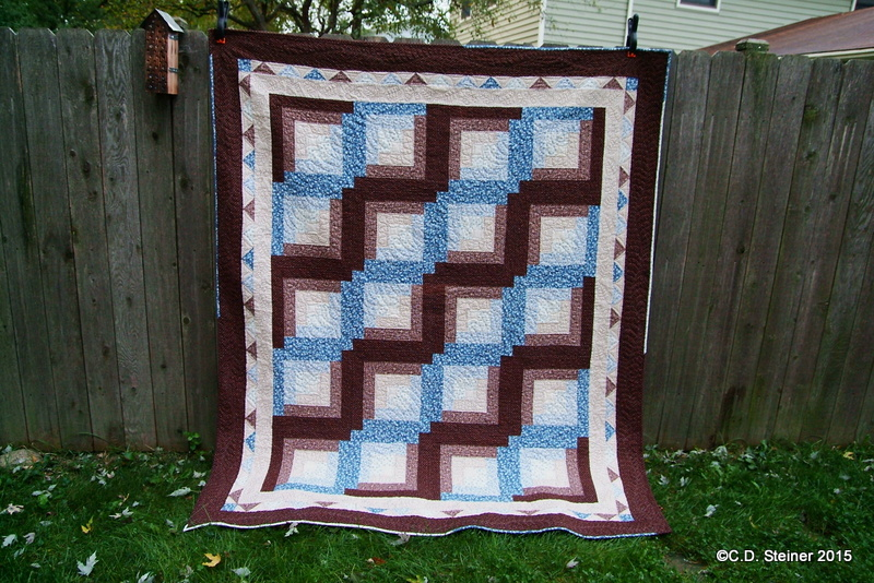 """Free Motion Quilting """"Snow In October"""" Video 5 – The Continuous Feather Border andFinish!!!"""