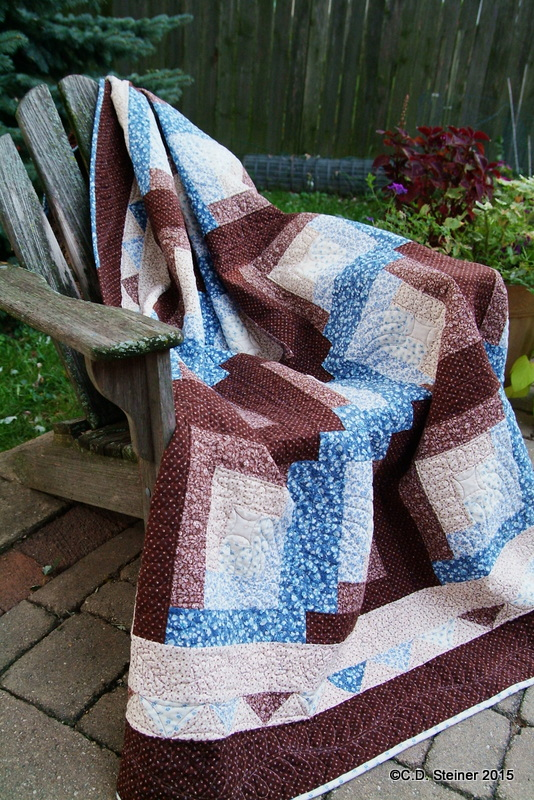 """Free Motion Quilting """"Snow In October"""" Video 4 – TriangleBorder"""